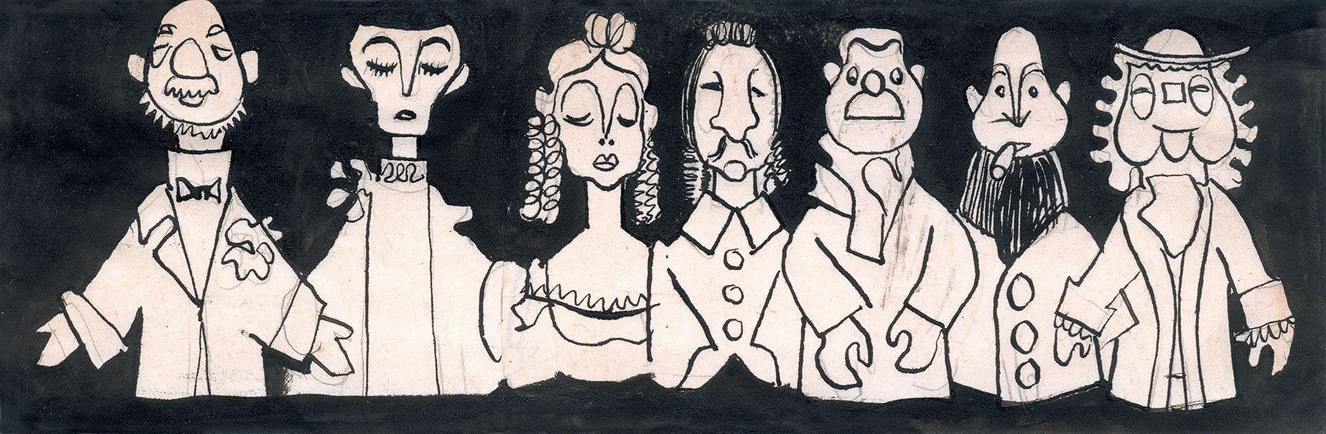 Illustratie Zeven Personages