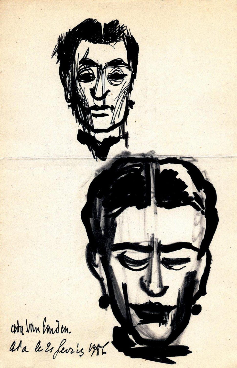 Portret Ada Van Emden 21-2-1956