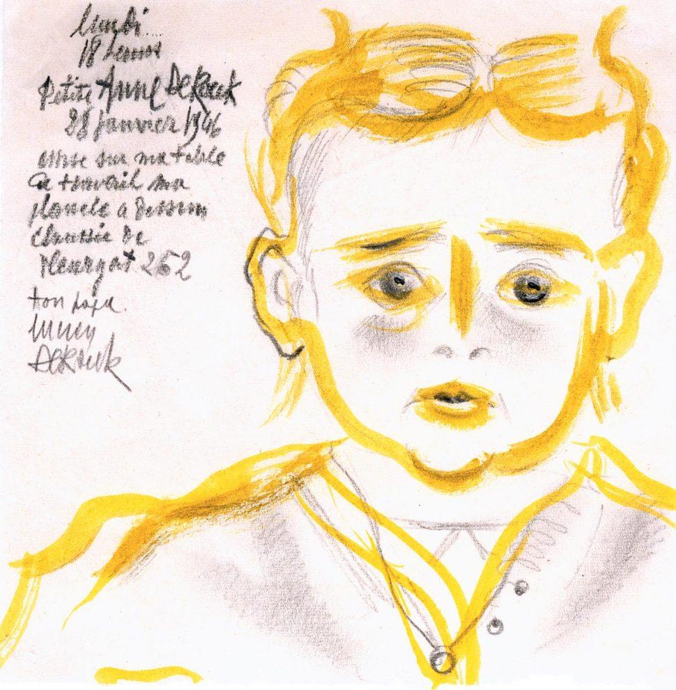 Portret Anne De Roeck 28-01-1952