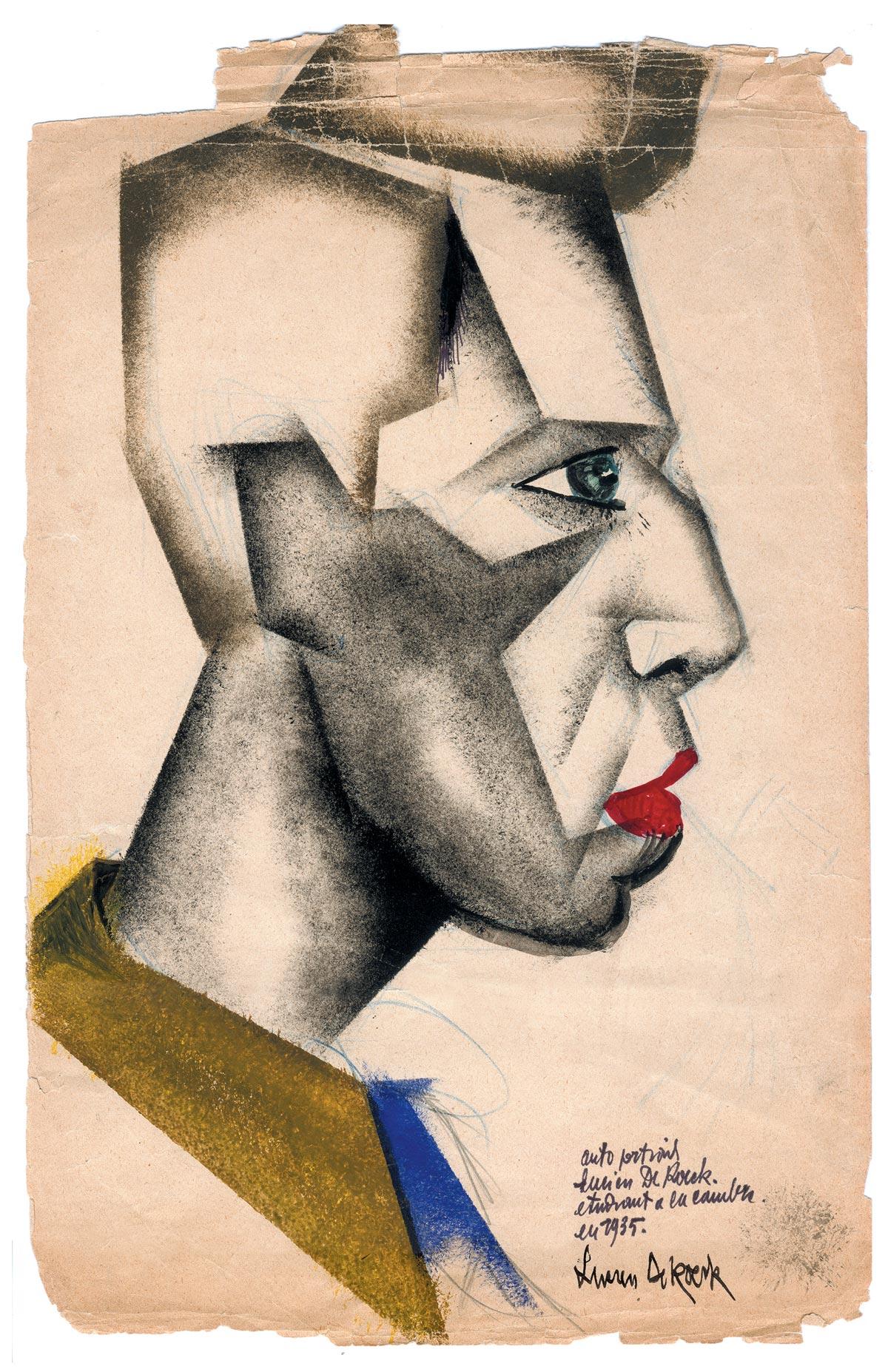 Zelfportret L. De Roeck 1935