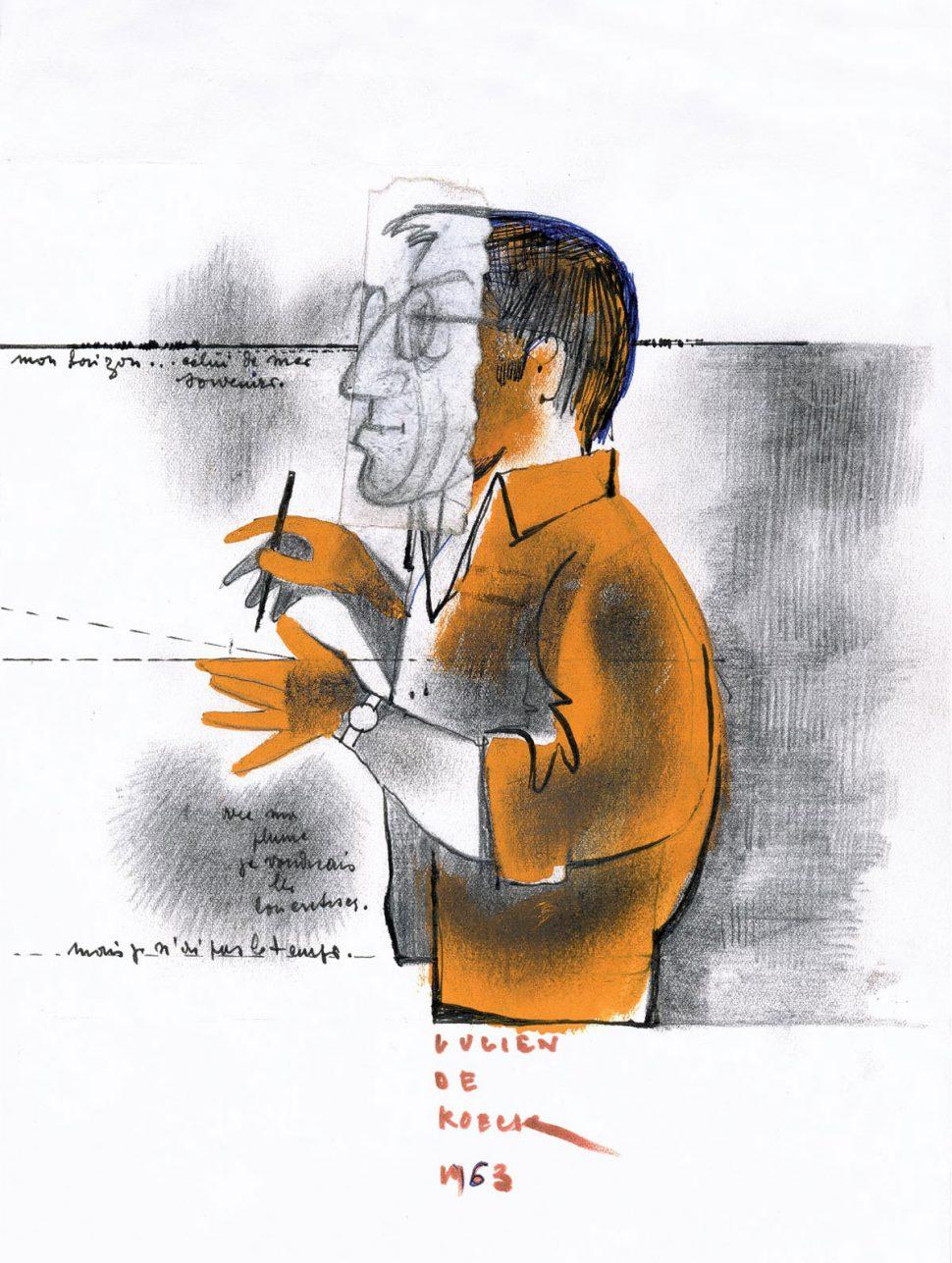 Zelfportret L. De Roeck 1963