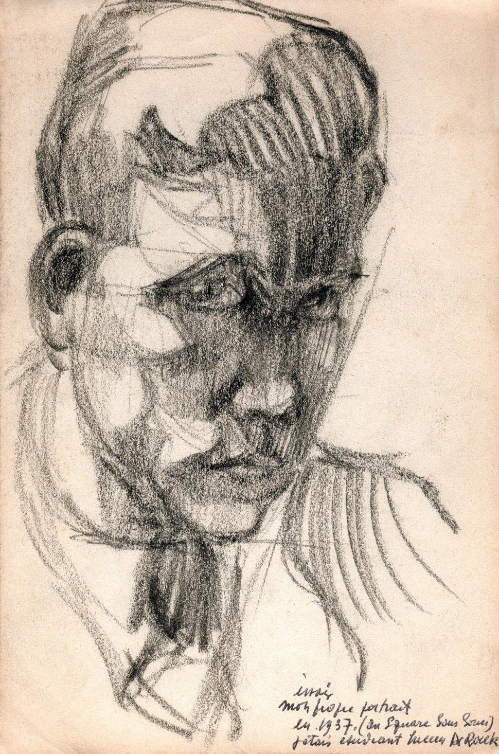 Zelfportret L. De Roeck 1937