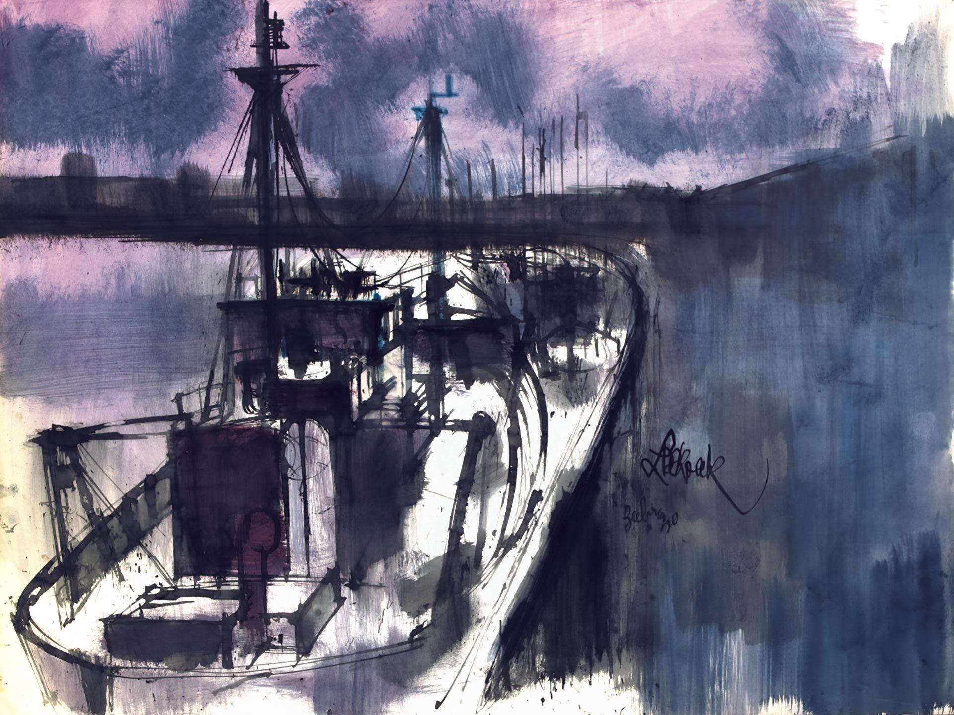 Schetsen Boten Zeebrugge
