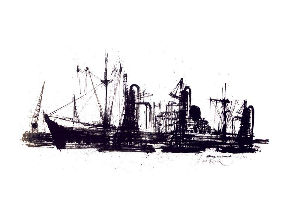 Schetsen Boten Antwerpen 1960