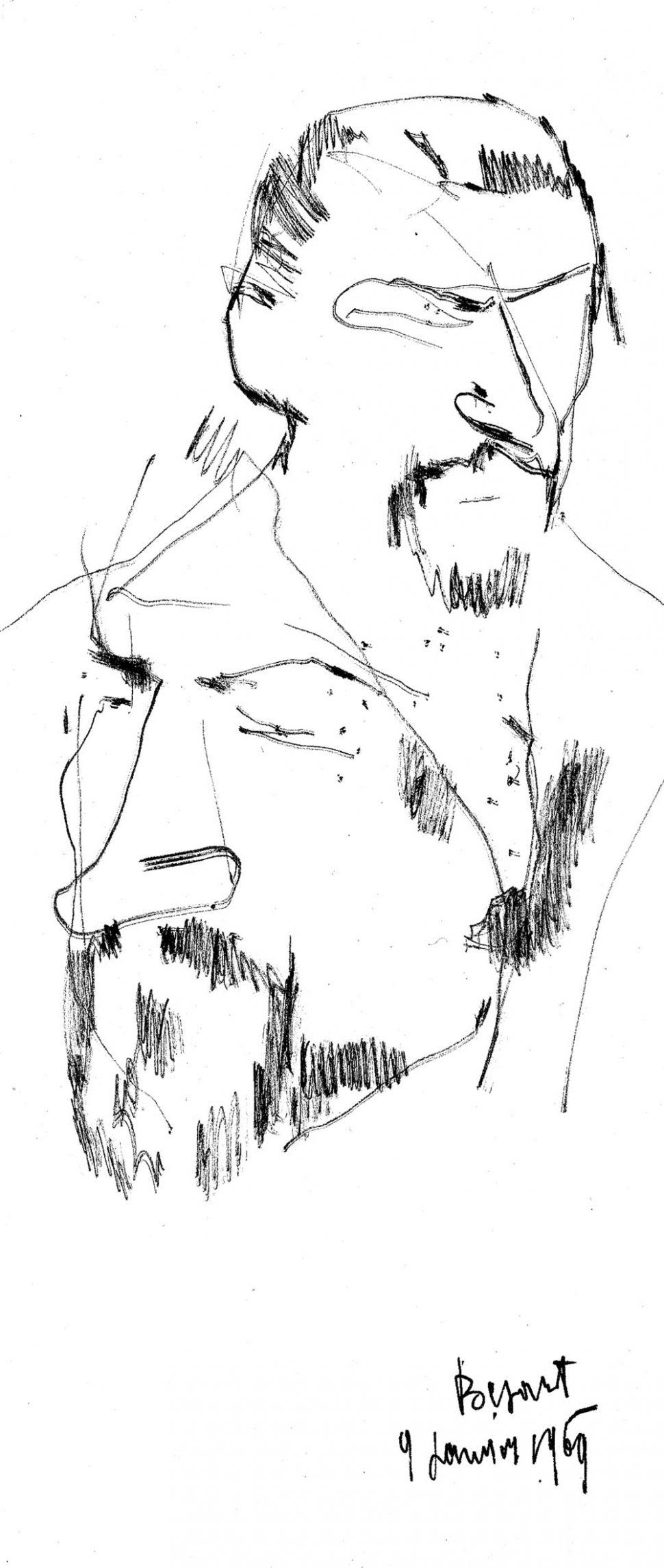 Portret Maurice Bejart 9-1-1969