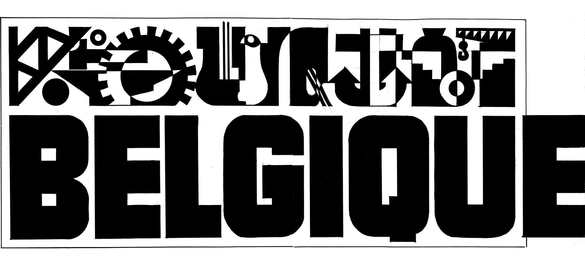 Typografie Opschriften Wereldtentoonstelling 1937