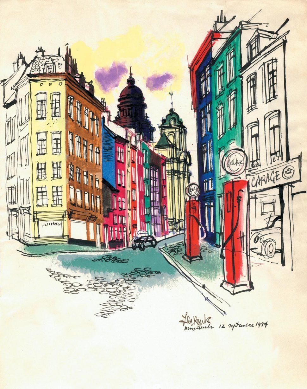 Brussel 1954 Schets