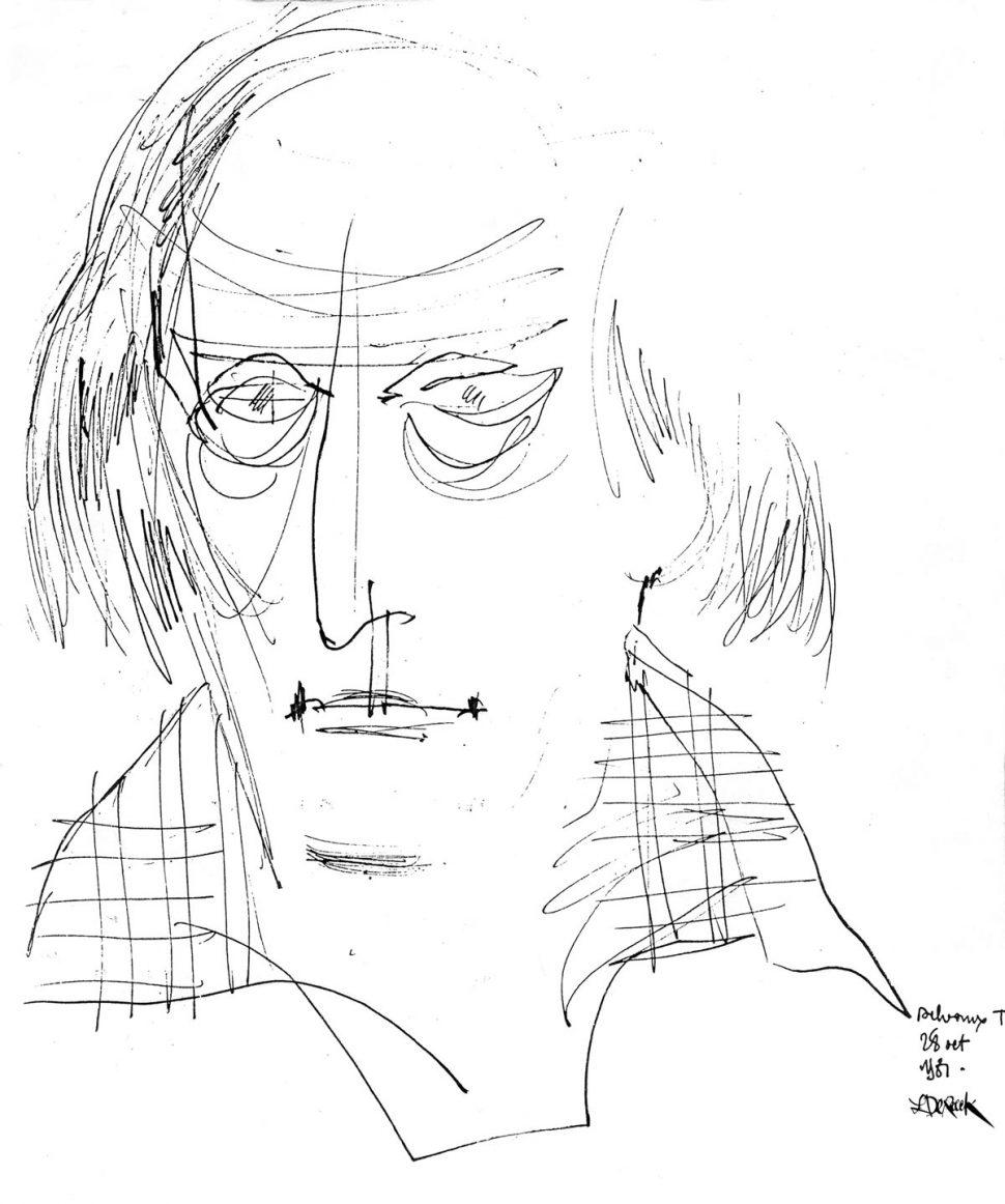 Portret Paul Delvaux 1981