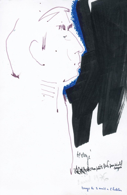 Portret Herge 2-4-1976