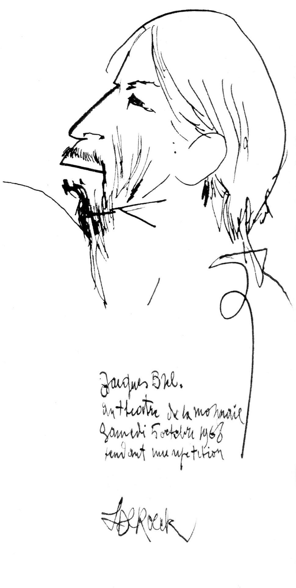 Portret Jaques Brel 5-10-68