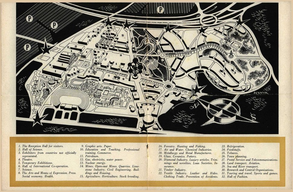 Brussel Tentoonstellingspark Expo 1958 Plan 1
