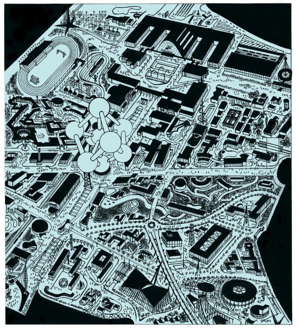 Brussel Tentoonstellingspark Expo 1958 Plan 3