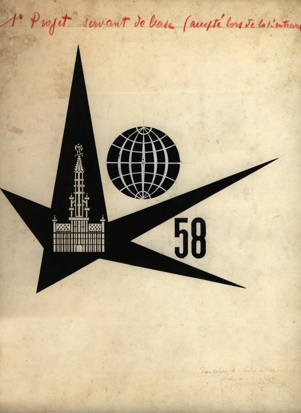 Voorstudie 6 Logo Expo 58