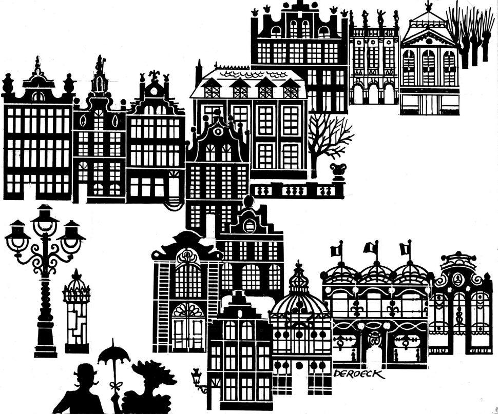 Illustratie Huizen