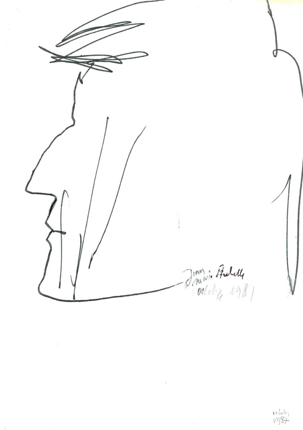 Portret Jean-Marie Strebelle 1987