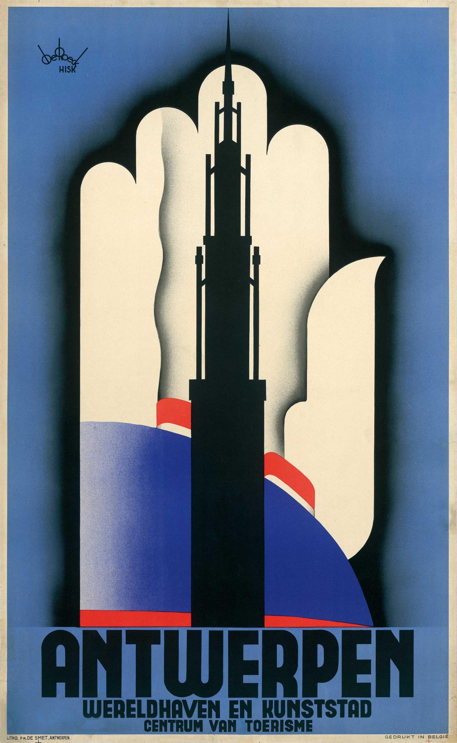Lucien De Roeck - Affiche Antwerpen / Anvers