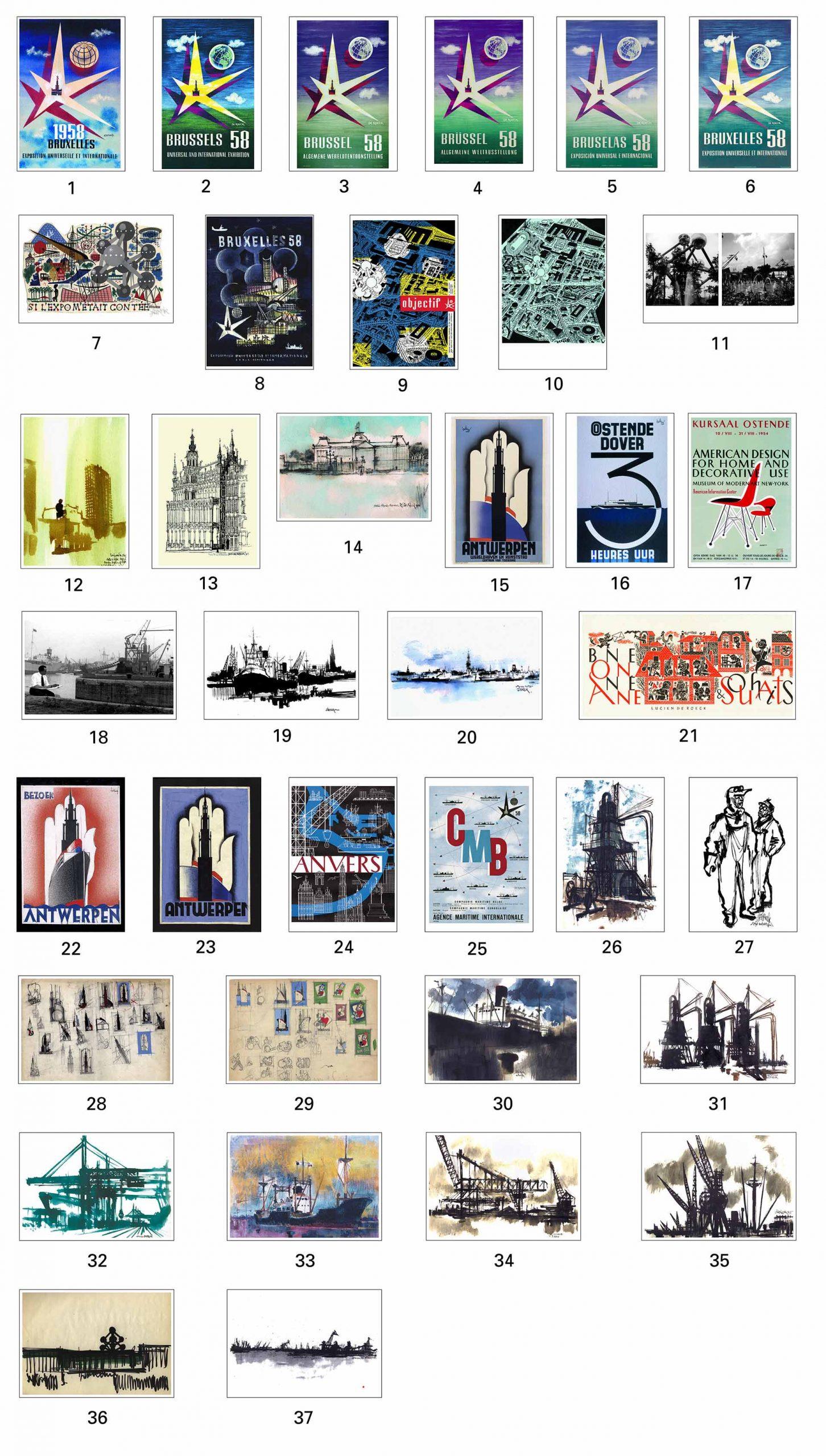 Lucien De Roeck cartes postales