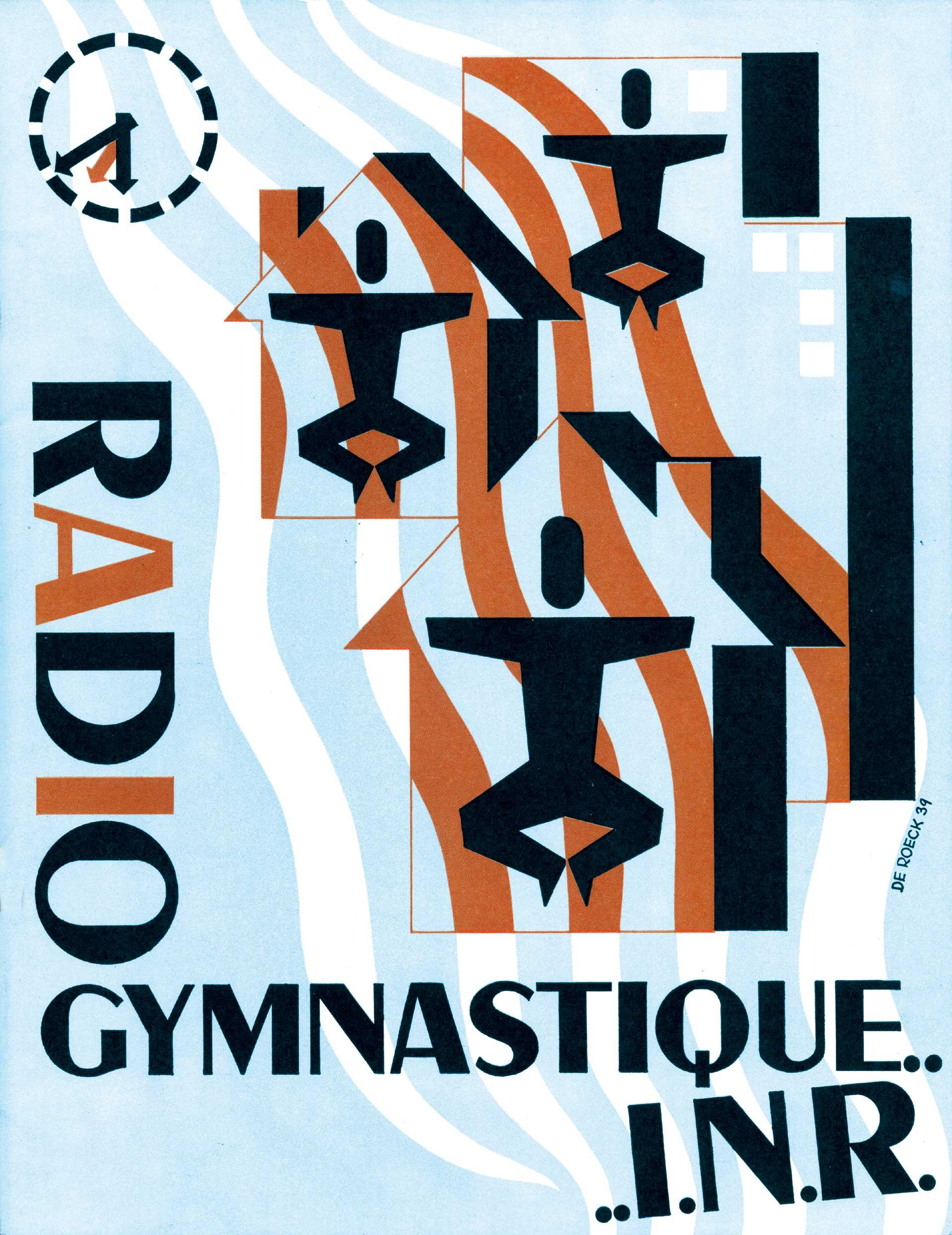 Affiche Radio Gymnastique I.N.R. - Lucien De Roeck