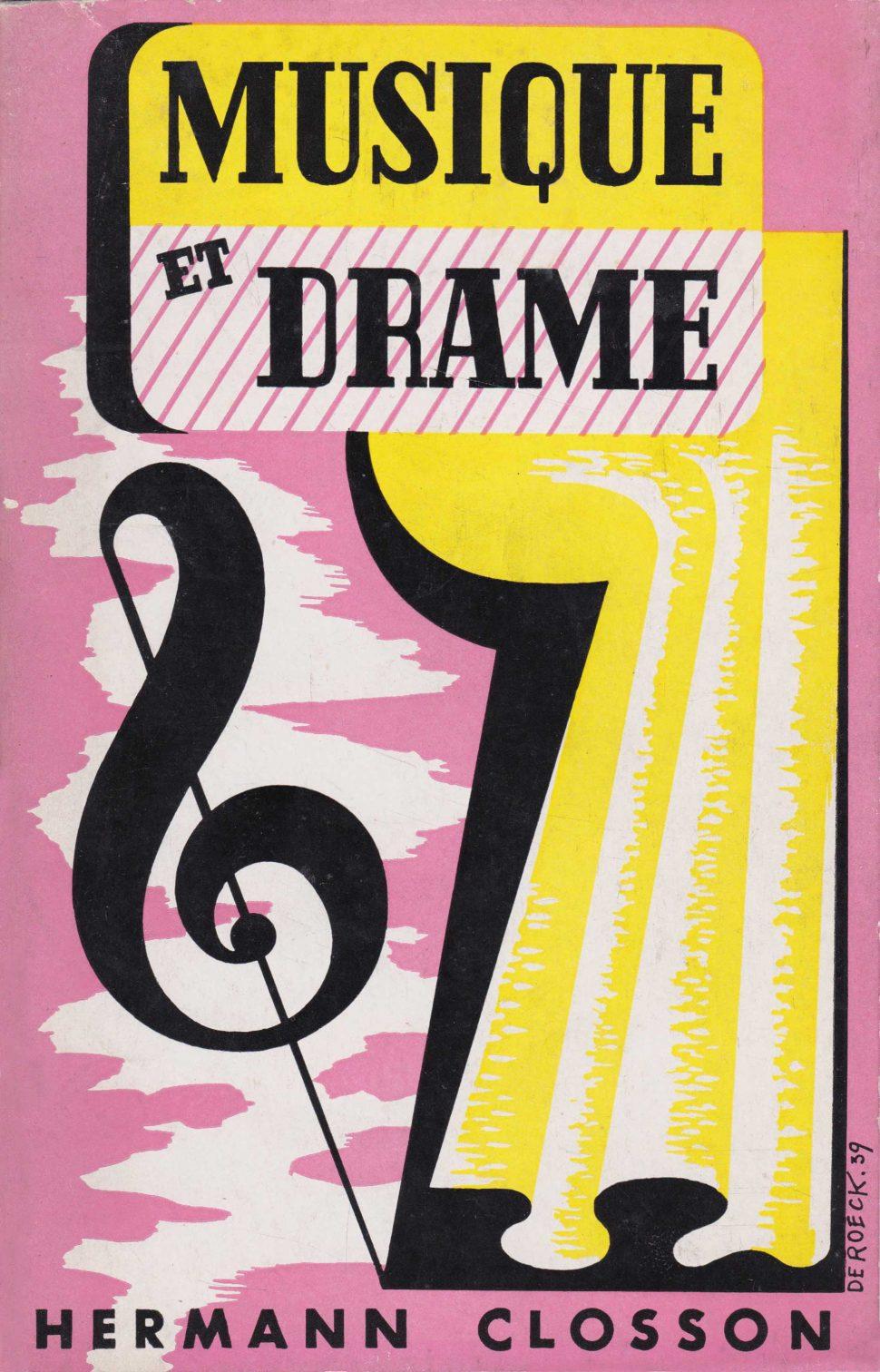 Musique et Drame Hermann Closson - Lucien De Roeck 1939